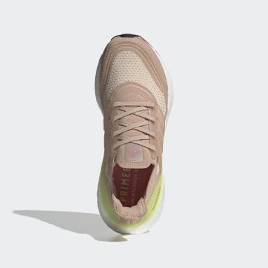 Tenis Ultraboost 21 Beige Mujer Running