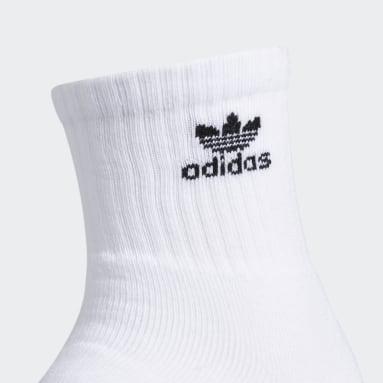 Originals Black Trefoil Quarter Socks 3 Pairs