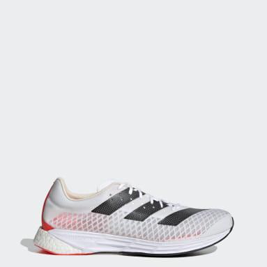 Men Running White Adizero Pro Shoes