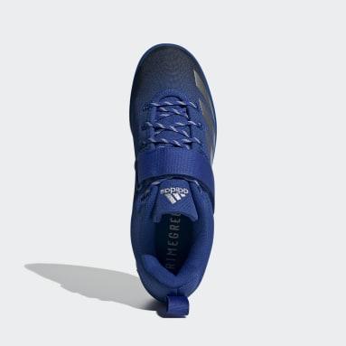 Gewichtheben Powerlift 4 Gewichtheberschuh Blau