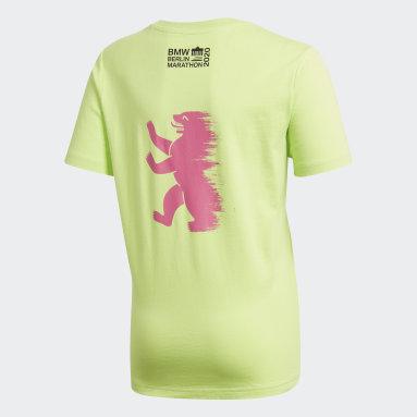 T-shirt Berlin Marathon Vert Garçons Running