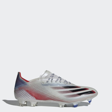 Men Football Silver X Ghosted.1 Firm Ground Boots