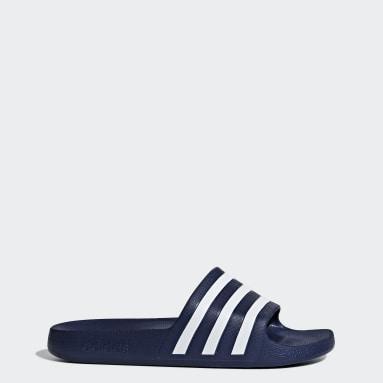 Swim สีน้ำเงิน รองเท้าแตะ Adilette Aqua