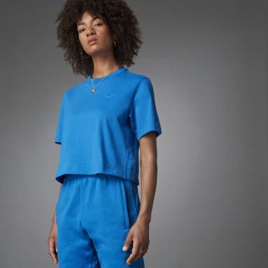 Dames Originals Blauw Blue Version Essentials T-shirt