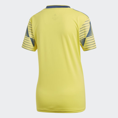 Women Soccer Yellow Colombia Home Jersey