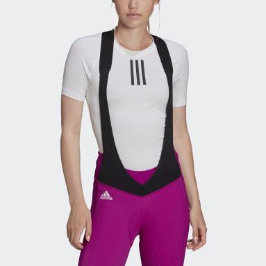 Dames Wielrennen Wit The Short Sleeve Wielren Basislaag