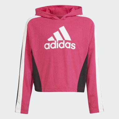 Tuta Colorblock Crop Top Rosa Ragazza Fitness & Training