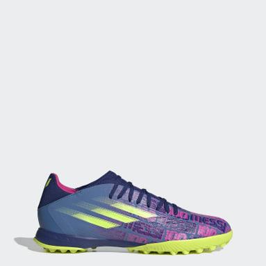Fußball X Speedflow Messi.3 TF Fußballschuh Blau