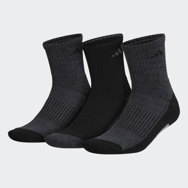 Men's Running Black Cushioned X Mid-Crew Socks 3 Pairs