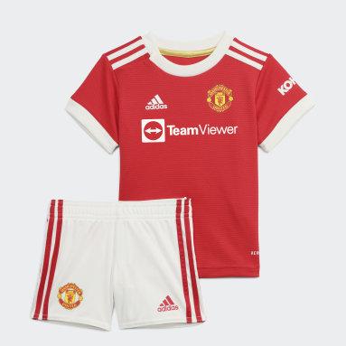 Kinder Fußball Manchester United 21/22 Mini-Heimausrüstung Rot
