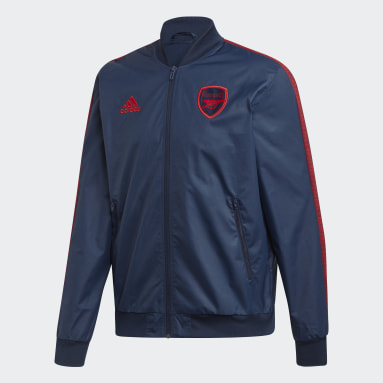 Men Football Blue Arsenal Anthem Jacket