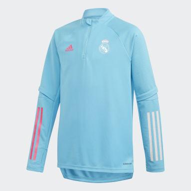 Haut d'entraînement Real Madrid Turquoise Enfants Football