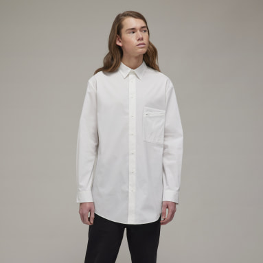 Men Y-3 White Y-3 Classic Chest Logo Button-Down Long-sleeve Top