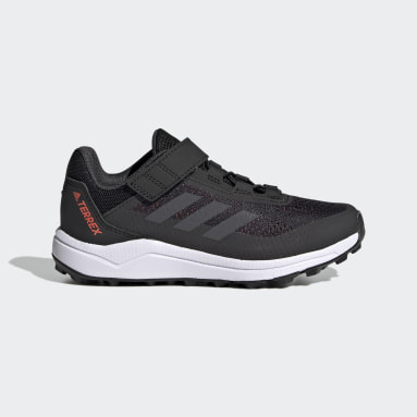 Children Trail Running Black Terrex Agravic Flow Primegreen Trail-Running Shoes