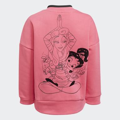 Sudadera Disney Princesas Comfy Cuello Redondo Rosa Niña Training