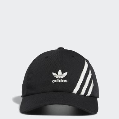 Men's Originals Black Relaxed SST Strap-Back Hat