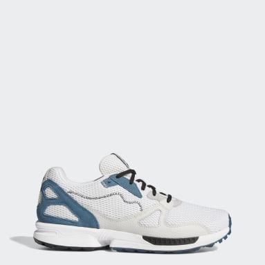 Golf White Adicross ZX Primeblue Spikeless Golf Shoes