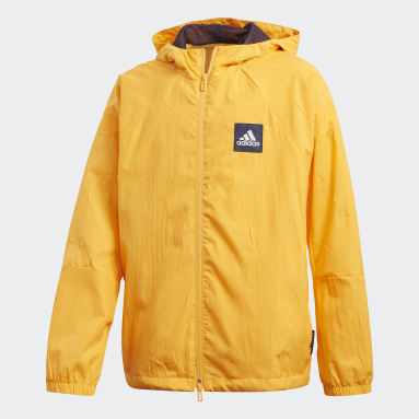 Youth 8-16 Years Lifestyle Yellow adidas W.N.D. Primeblue Jacket