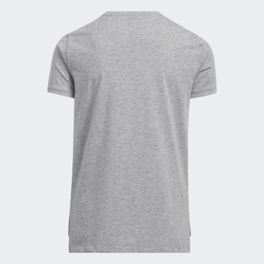 Youth Running Grey Heather Vent Tee