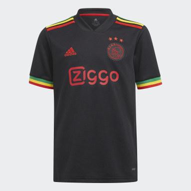 Kinderen Voetbal zwart Ajax Amsterdam 21/22 Derde Voetbalshirt