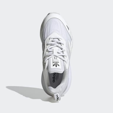 Youth Originals White ZX 2K Boost 2.0 Shoes