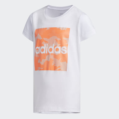 Girls Sportswear White Camouflage T-Shirt