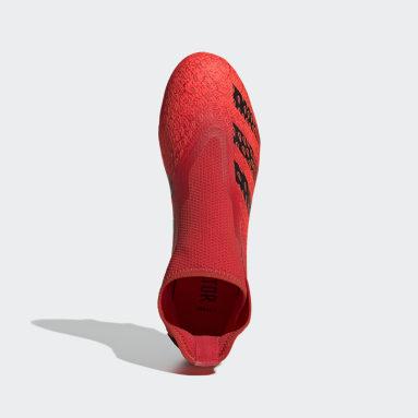 красный Футбольные бутсы Predator Freak.3 Laceless FG