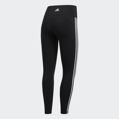 Dames HIIT Zwart Believe This 2.0 3-Stripes 7/8 Legging