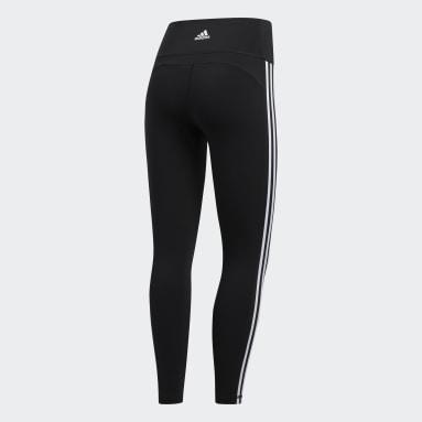 Women HIIT Black Believe This 2.0 3-Stripes 7/8 Leggings