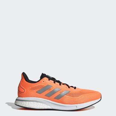 Men Running Orange Supernova Shoes