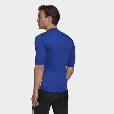 Maillot The Short Sleeve Cycling Bleu Hommes Cyclisme