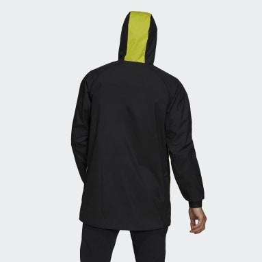 Men Football Black Juventus Travel Drill Jacket
