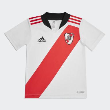 Mini Uniforme Local River Plate 21/22 Blanco Niño Fútbol