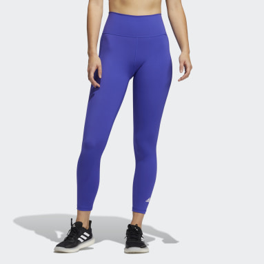 Women Gym & Training Blue Believe This Primeblue 7/8 Tights