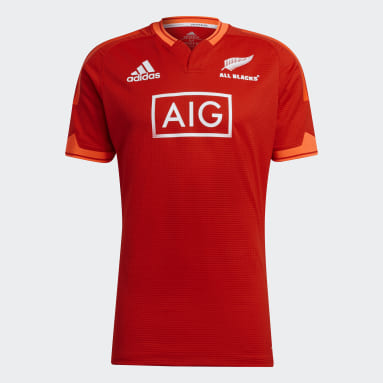 Men Rugby Red All Blacks Rugby Primeblue Replica Training Jersey