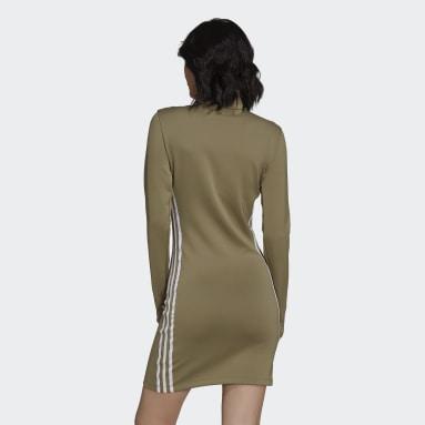 Women Originals Green Adicolor Classics Long Sleeve Dress
