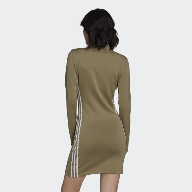 Kvinder Originals Grøn Adicolor Classics Long Sleeve kjole