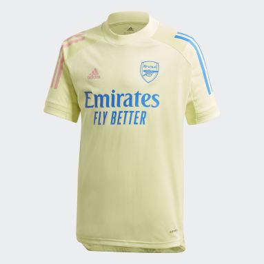 Kids Football Yellow Arsenal Training Jersey