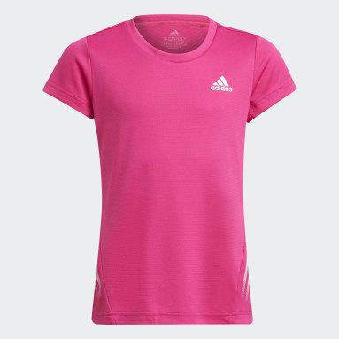 Youth 8-16 Years Gym & Training Pink AEROREADY 3-Stripes T-Shirt