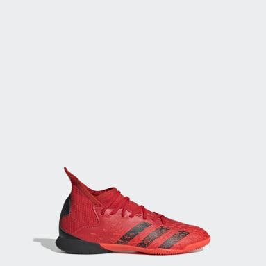 Boys Football Red Predator Freak.3 Indoor Boots
