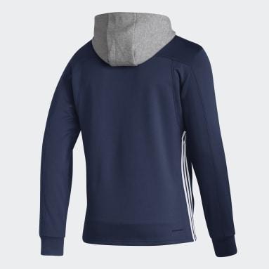 Sweat-shirt à capuche Jets Skate Lace Bleu Hommes Hockey