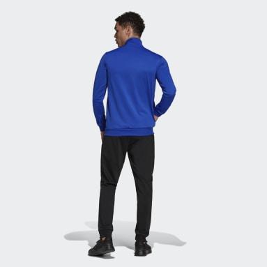 Buzo Primegreen Essentials Logo Pequeño Azul Hombre Diseño Deportivo