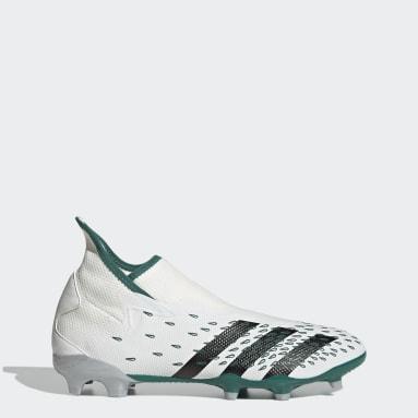 Botas de Futebol sem Atacadores Predator Freak.3 EQT – Piso firme Branco Futebol