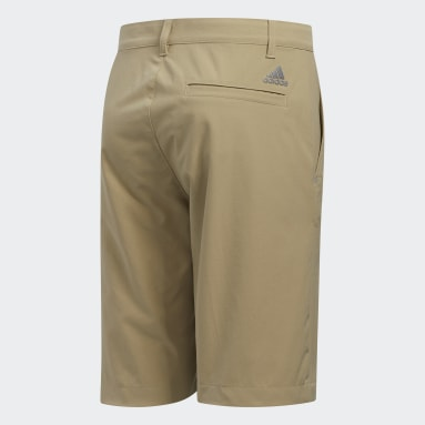 Youth Golf Red Solid Golf Shorts