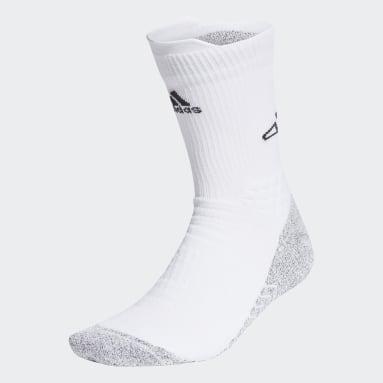 Basketball White Basketball AEROREADY Primegreen Traxion Crew Socks