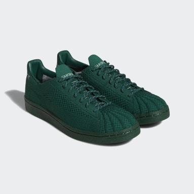 Chaussure Pharrell Williams Superstar Primeknit Vert Originals