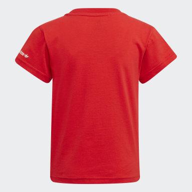 เด็ก Originals สีแดง เสื้อยืด Adicolor
