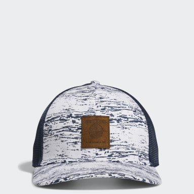 Men Golf White SD Golf Trucker Hat