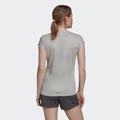 Women Handball Grey Handball Training T-Shirt