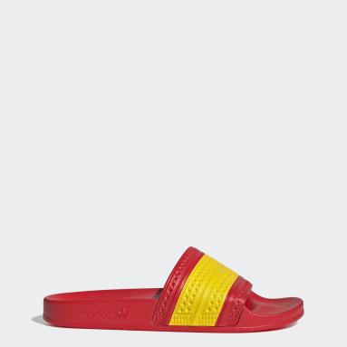 adilette Slides Czerwony